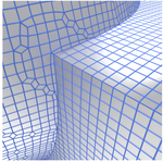 Digital surface regularization by normal vector field alignment